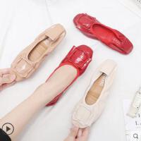 浅口女鞋网红同款新款休闲鞋女单鞋舒适平底鞋圆头船鞋瓢鞋孕妇鞋