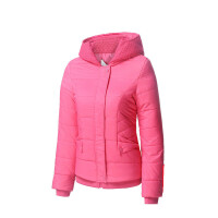 201802280129102秋冬季新款女士运动棉外套短款连帽轻薄棉衣防风外套 S 5CM