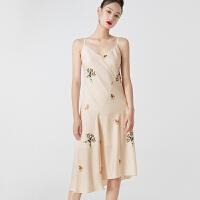 4.6到手价232丨红袖国风印花波点不对称收腰吊带裙