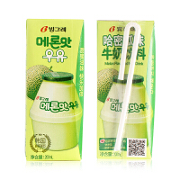 Binggrae/宾格瑞哈密瓜味牛奶200ml 韩国进口牛奶饮料休闲零食品