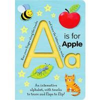 【现货】英文原版 A代表苹果 A is for Apple 纸板书 儿童早教 2-4岁低幼翻翻纸板书 978158925