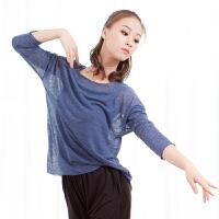 舞蹈练功服网纱上衣女形体现代舞服古典身韵民族半透宽松纱衣
