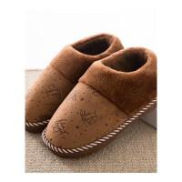 包跟棉拖鞋女厚底冬季居家居情侣保暖室内冬天保暖月子毛毛拖 全包跟签名-