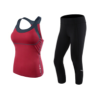 瑜伽二件套健身套装女初学者运动春夏背心带胸垫裤子瑜伽服