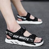 时尚新款夏季潮流沙滩凉鞋男士室外百搭运动休闲凉拖青年外穿拖鞋