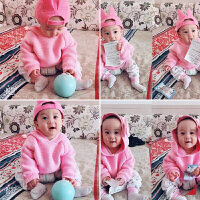 男婴儿装毛衣服针织外套装1岁女宝宝春秋冬装婴儿6个月薄款套头衫