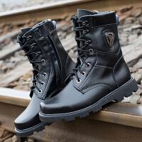 2017新款男靴秋冬季户外工装靴作战靴飞行沙漠靴中筒战术靴马丁靴