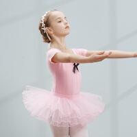 儿童舞蹈服女童芭蕾舞裙练功服夏季幼儿演出服装分体考级服