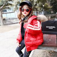 儿童洋气外套2018新款韩版中大童冬季宽松厚款棉衣保暖棉袄
