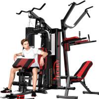 综合训练器家用三人站大型器械力量训练组合多功能健身器材 (包安装)