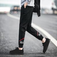 潮流铺KM8P前线男士小脚休闲裤哈伦运动裤潮牌男裤【潮流】【超火】