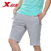 特步男装运动裤夏季新款正品休闲沙滩裤子针织裤五分裤运动短裤男985229610086