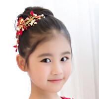 韩版儿童珍珠蝴蝶头饰花童饰品套装儿童礼服配饰演出发饰品 支持礼品卡支付