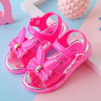 韩版女童凉鞋夏季儿童新款鞋子小孩学生中大童公主鞋沙滩凉鞋