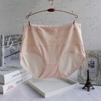 莫代尔纯棉女士内裤批发 蕾丝边提花透气竹炭纤维中腰少女三角裤 加大