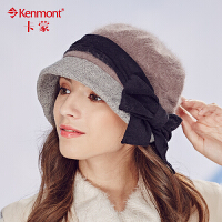 kenmont冬天帽子女韩国潮羊毛呢盆帽小礼帽秋冬渔夫帽贝雷帽1700