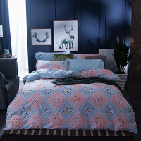 纯棉四件套全棉床品套件1.8m床上用品被套床单四件套1.5米