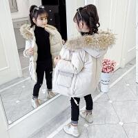 女童冬装儿童中大童中长款羽绒棉衣