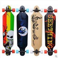 潮流炫酷防滑耐磨精致图案刷街代步速降板长板公路滑板四轮成人滑板跳舞板