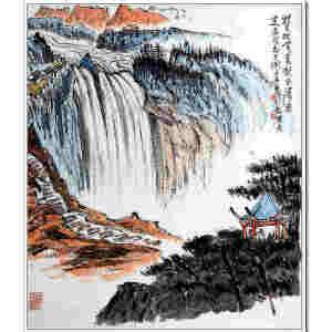 吴一峰  《巨瀑》