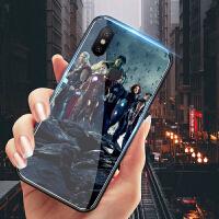 小米8手机壳男复仇者联盟3钢化小米8se玻璃套美国队长漫威八探索版透明镜面marvel奇异博士绿巨人