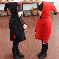 2017女童毛毛衣棉袄冬装中小童双面穿12-3-4-5-6岁儿童加厚棉衣外套潮lm 双面 120cm