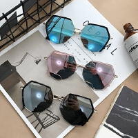 2新款偏光太阳镜百搭女韩版潮复古原宿风墨镜个性眼镜圆脸
