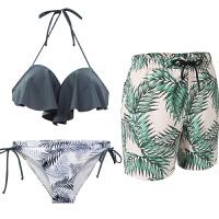 情侣泳衣性感套装海边度假蜜月装泳装沙滩情侣装三件套