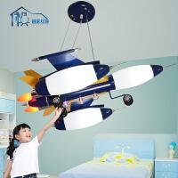 祺家 儿童房灯具吊灯可爱卡通飞机灯童趣儿童卧室用灯具灯饰KD02