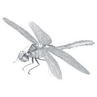 【蜻蜓】3D立体拼图儿童DIY拼插模型拼装金属智力玩具