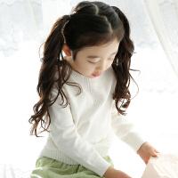 女童毛衣套头春秋儿童中大童打底衫宝宝圆领针织
