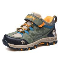 史努比童鞋冬新品男童运动鞋儿童户外休闲鞋防滑登山鞋子二棉