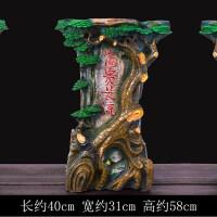 假山流水摆件家居鱼缸家装饰品喷泉办公室桌面电视柜客厅创意