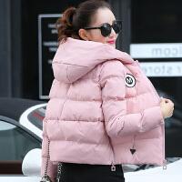 棉衣女短款冬新款羽绒韩版大码加厚面包服修身连帽小棉袄外套