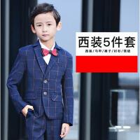 儿童西服 男秋冬西装韩版男童钢琴演出服 男花童礼服套装马甲