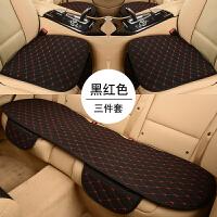 汽车坐垫无靠背座垫单片三件套四季通用亚麻春季夏季后排单座j