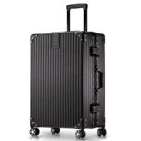 行李箱拉杆箱万向轮旅行箱女男韩版小清新复古铝框直角密码皮箱子