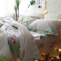 家纺全棉床上用品四件套纯棉美式田园1.8m床单被套件1.5m床笠床品 提示:1.5和1.8尺寸一样。