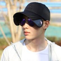 帽子男韩版情侣棒球帽户外遮阳鸭舌帽防晒遮脸户外运动太阳帽