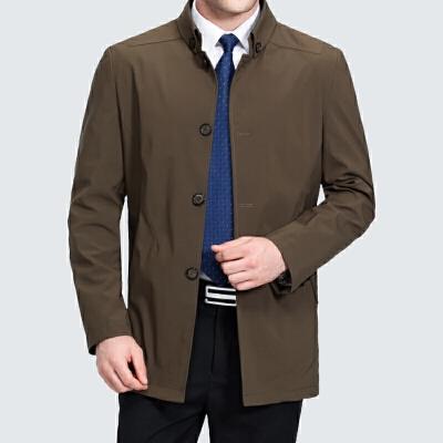 中年男士风衣中长款春秋季男装外套新款中老年立领宽松夹克加大码 一般在付款后3-90天左右发货,具体发货时间请以与客服协商的时间为准