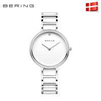 Bering白令女士手表陶瓷水钻正品进口简约时尚石英表防水潮流腕表