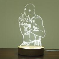 科比背景3D小台灯科比退役纪念品送友佳品生日礼物