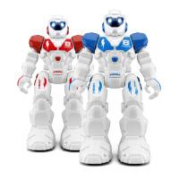 机器人玩具智能遥控电动机器人会唱歌会跳舞儿童玩具男孩女孩 机器人【红+蓝2只】 独立包装2套 现货