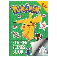 The Official Pokemon Sticker Scenes Book 宝可梦口袋妖怪 超过150个贴纸绘本