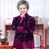 女装冬装棉衣中老年人妈妈装秋外套加厚棉袄60-70-80岁奶奶装加绒