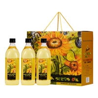 瑞驰欧(Richevo)西班牙进口 清香葵花籽油 1L*3 礼盒装