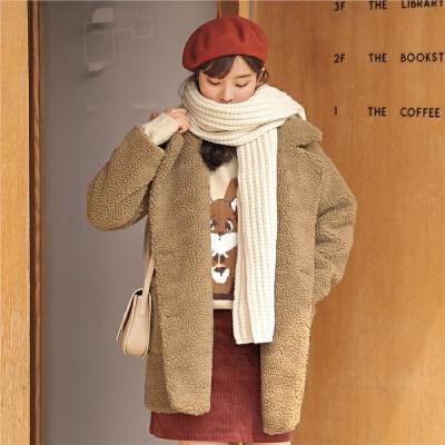 羊羔毛时尚仿皮草2020年冬季新款女洋气韩版宽松复古学生百搭外套