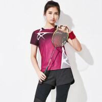 羽毛球服女款队服速干网球服运动服比赛训练服男 8066女款七分裤套装