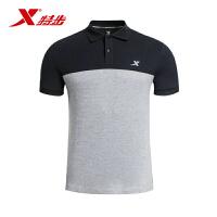 特步男士上衣夏季新款短袖POLO衫运动休闲衣服984229020962