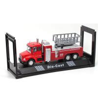 儿童玩具合金小汽车模型云梯水枪机场消防车119声光回力车